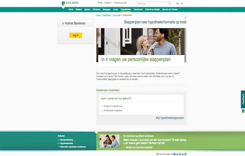 ABN AMRO – Stappenplan hypotheekinformatie