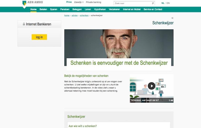 ABN AMRO – Online schenkwijzer