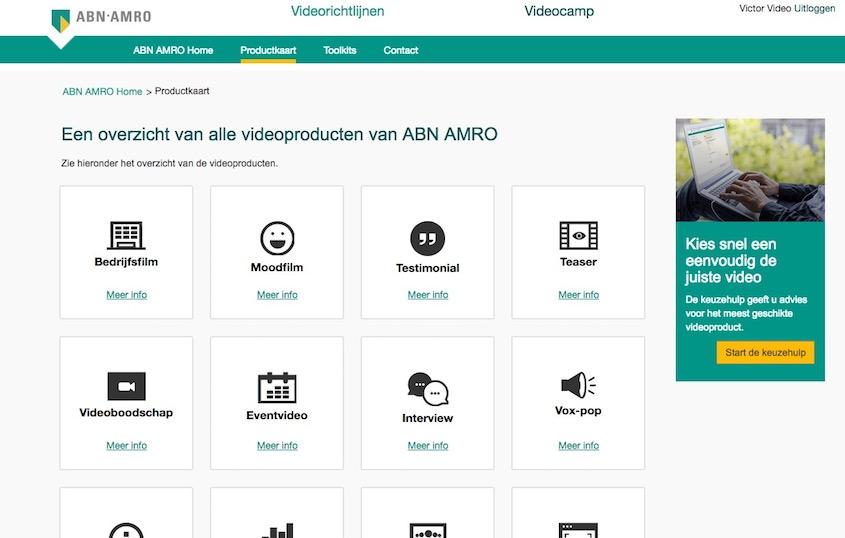 ABN AMRO – VideoCamp workflowtool